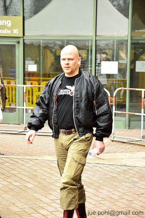 Bernd Tödter nach seiner Einvernahme am 11.02.15 im NSU-Prozess.
